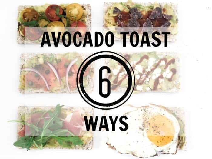 Avocado Toast 6 different ways. | Appetizer Ideas | Avocado on wasa crisp 6 different ways | Lox and avocado | www.madewithhappy.com