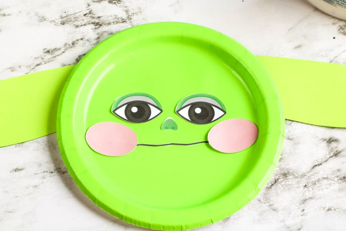 paper plate craft with face
