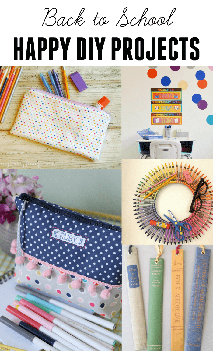 Back to School DIY Projects | www.madewithHAPPY.com