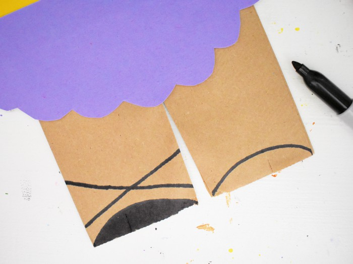 Finally, draw ballet flats with a black marker, or the color of your choice.
