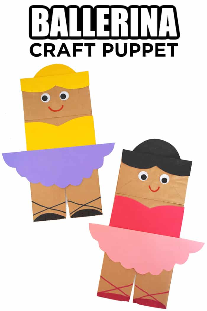 how to make a ballerina craft with paper bag