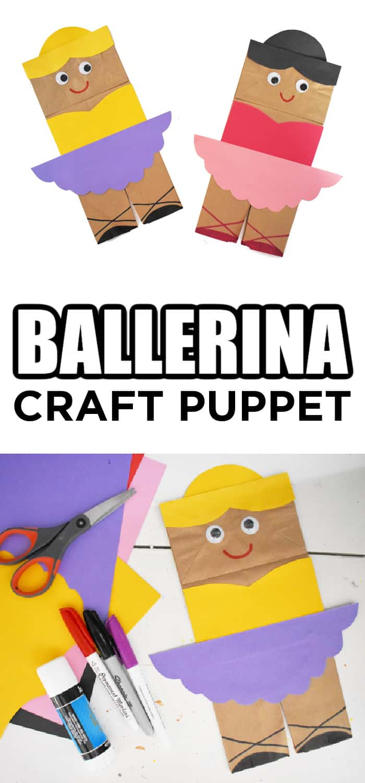 ballerina craft puppet