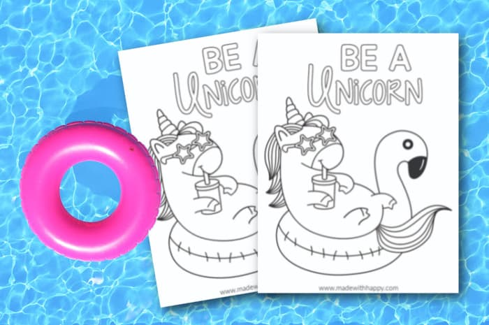 Be A Unicorn Coloring Page