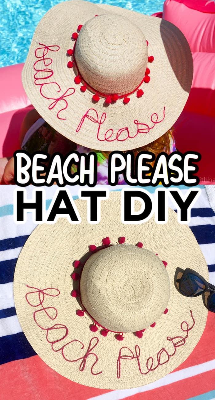 Beach Please Hat DIY