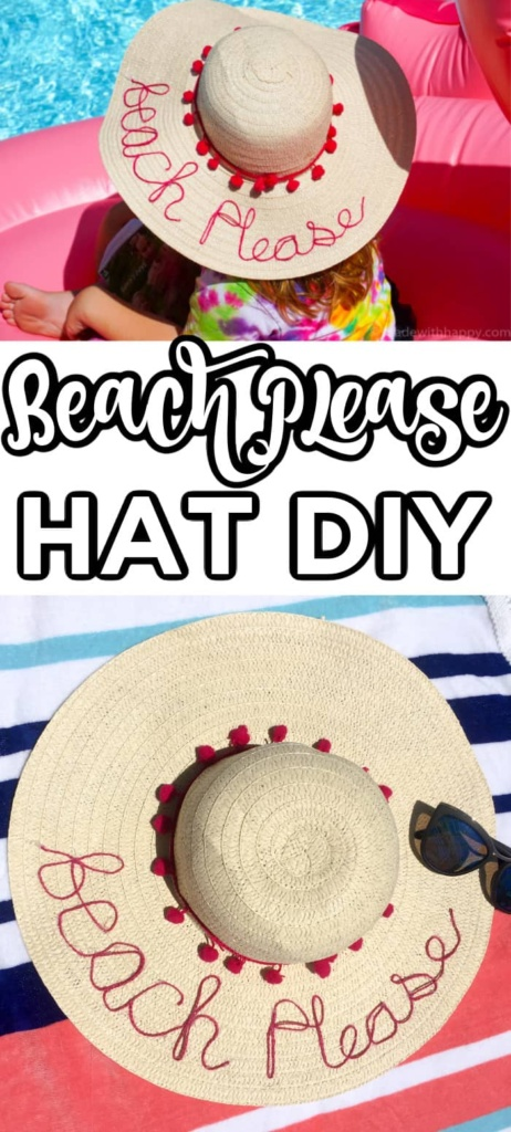 Beach Please Hat DIY
