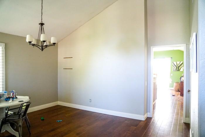 80's home with weird walls. Kitchen renovation. Classic White Kitchen, Modern Farmhouse Style Kitchen. All White Kitchen.