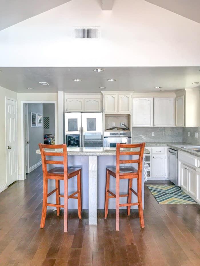 Before Kitchen. Kitchen renovation. Classic White Kitchen, Modern Farmhouse Style Kitchen. All White Kitchen.