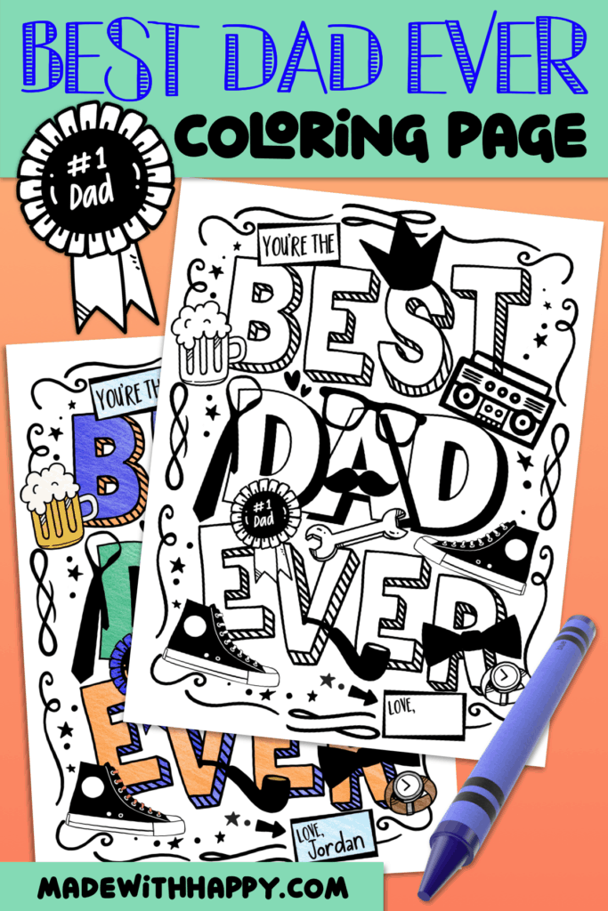 Father's Day Printable Coloring Pages