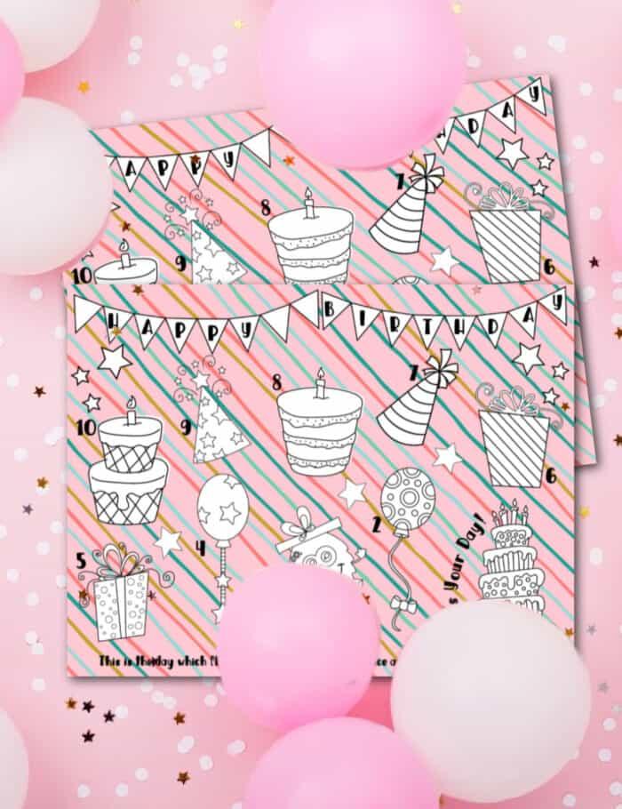 Printable Birthday Countdown