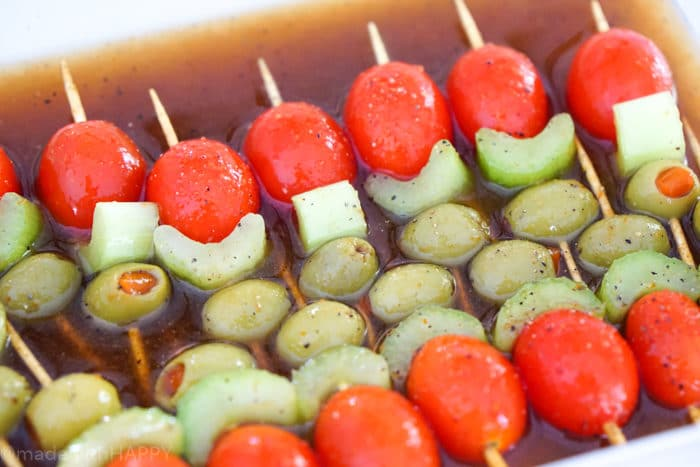 Bloody Mary Bites. Bloody Mary Bombs. Superbowl Appetizers. Finger foods perfect for tailgating. Super bowl appetizers ideas. Bloody Mary Cocktail Appetizer.