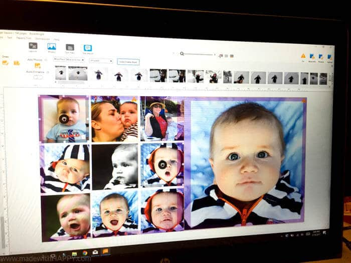 DIY Baby Photo Books   How to make hardcover coffee table books   Baby Memory Books   Baby's 1st Year book   www.madewithhappy.com
