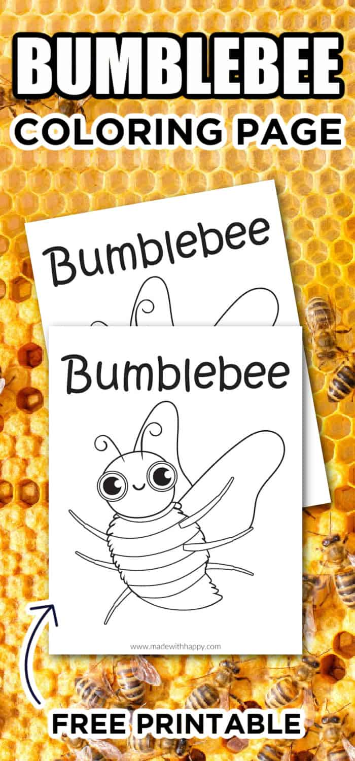 Bee Animal Coloring Page