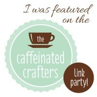 Link up projects each Tuesday with the Caffeinated Crafters. DIY, recipes, crafts, printables - if you made it, we wanna see it. http://bit.ly/linkyparty