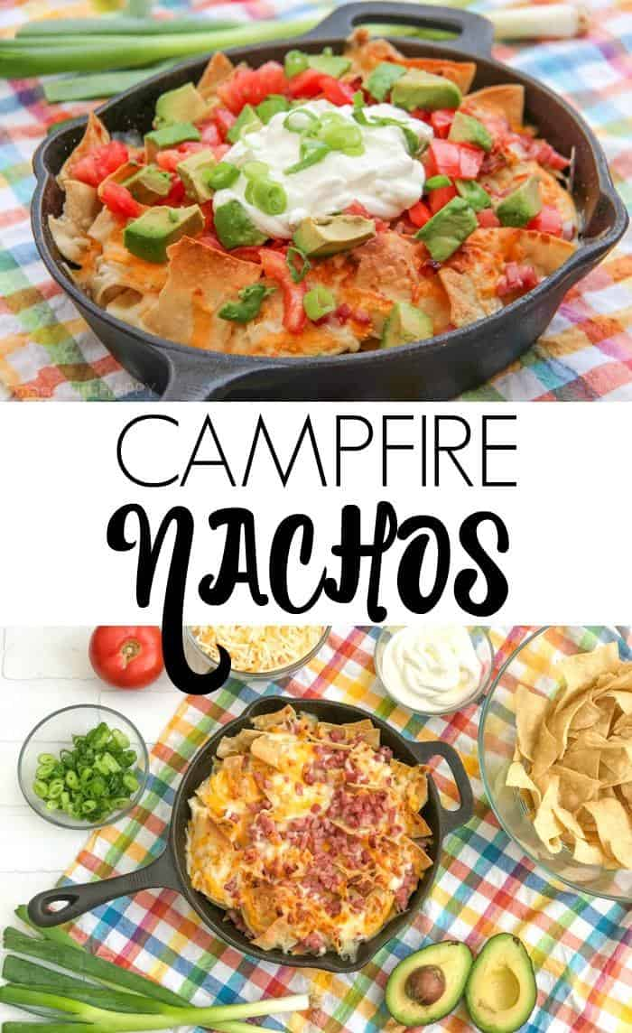 Simple and delicious ingredients to make these Campfire Nachos for your next camping trip or backyard BBQ.