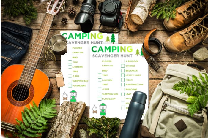 Camping Scanver Hunt Printable