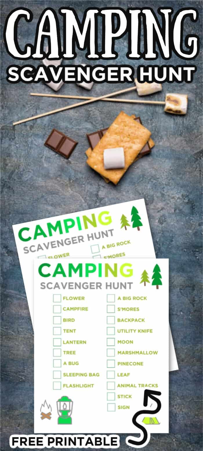 Camping Scavenger Hunt Ideas