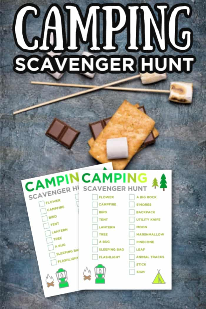 printable Camping ideas for kids