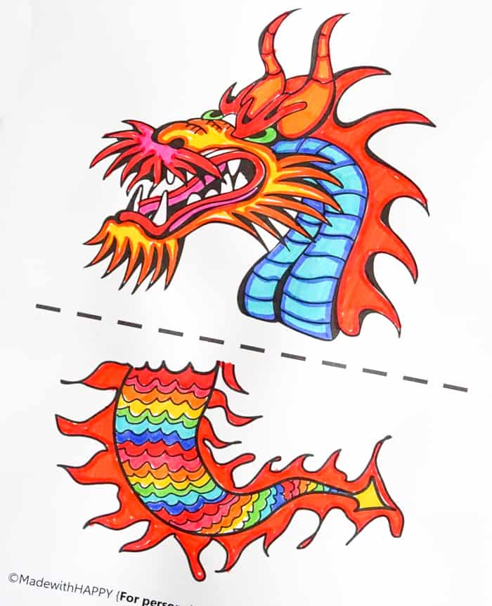 dragon printable