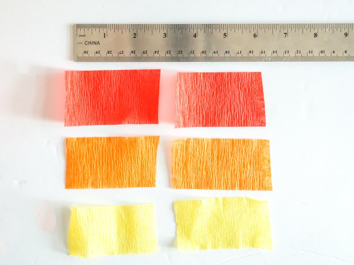 small pieces of crepe paper
