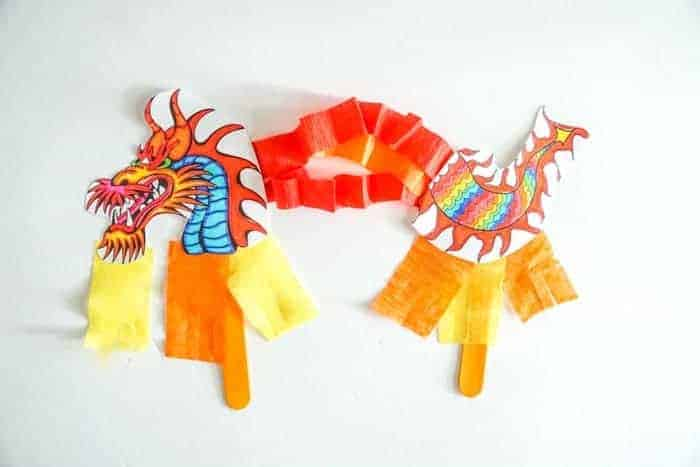 Chinese Dragon Puppet Kids Craft