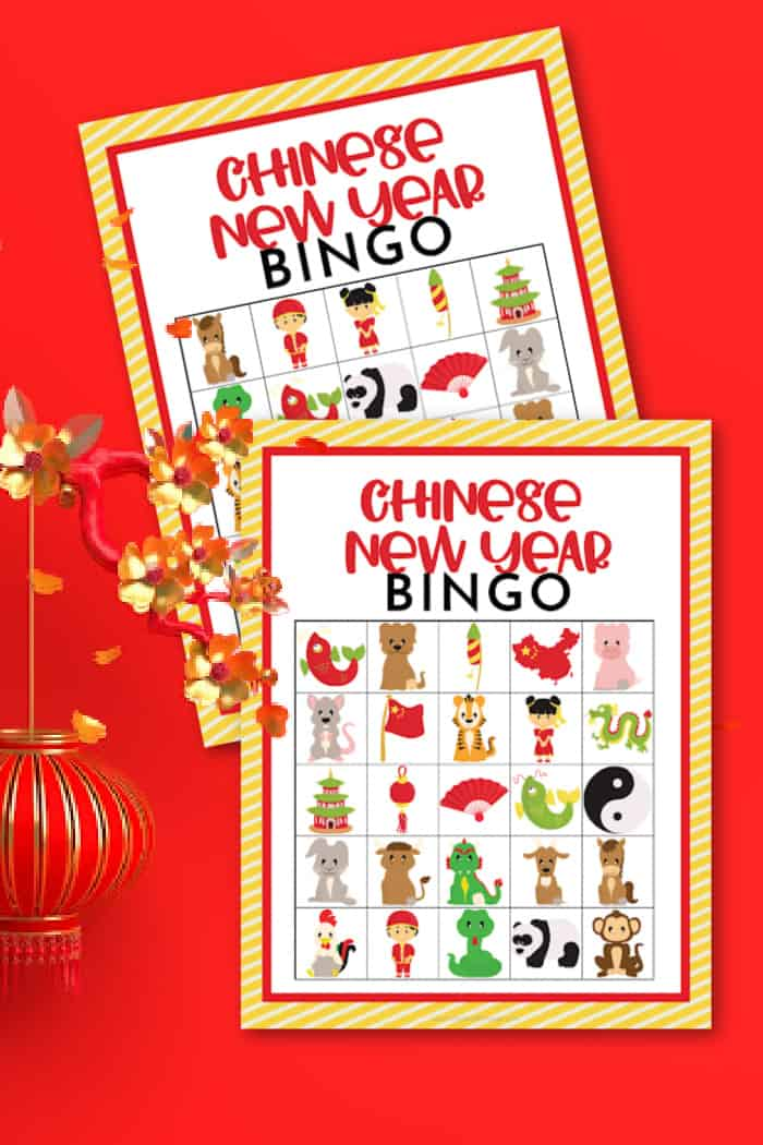 Chinese New Year Bingo Playing Cards