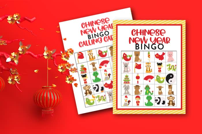 Chinese New Year Bingo Cards and Calling Cards
