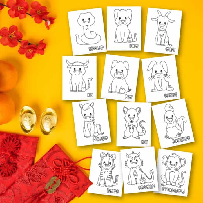 Chinese New Year Coloring Page Shop
