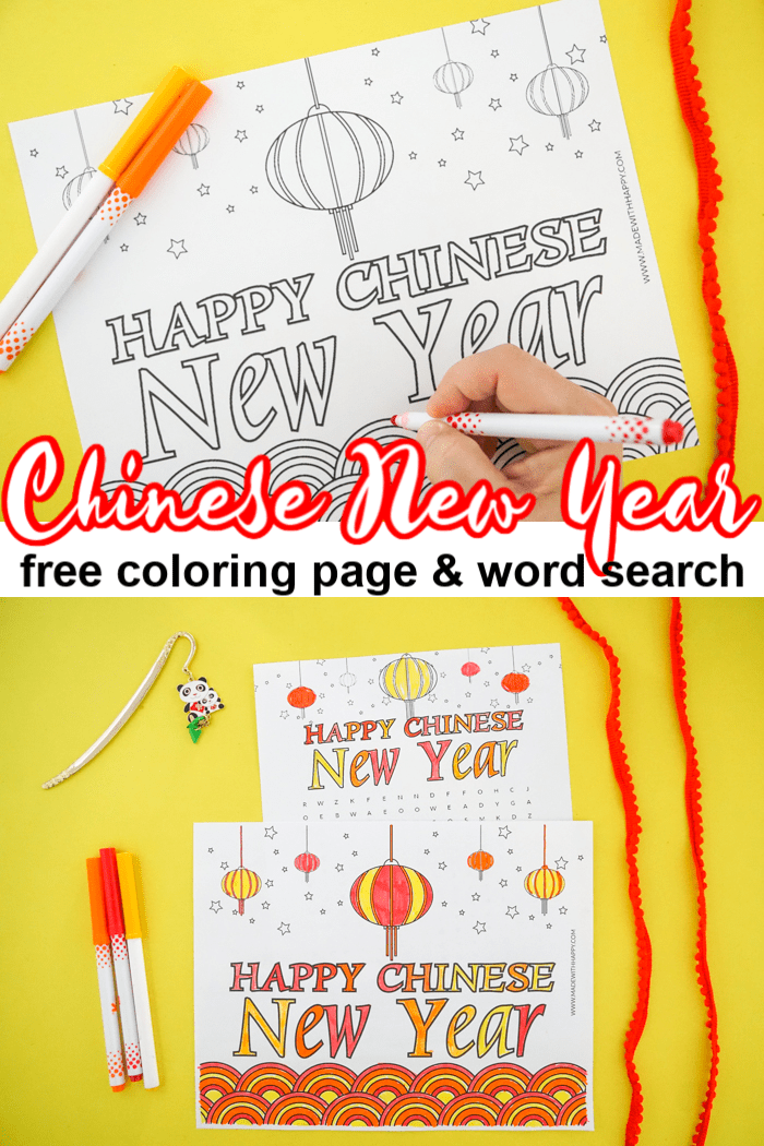 Chinese new Year free printable coloring pages