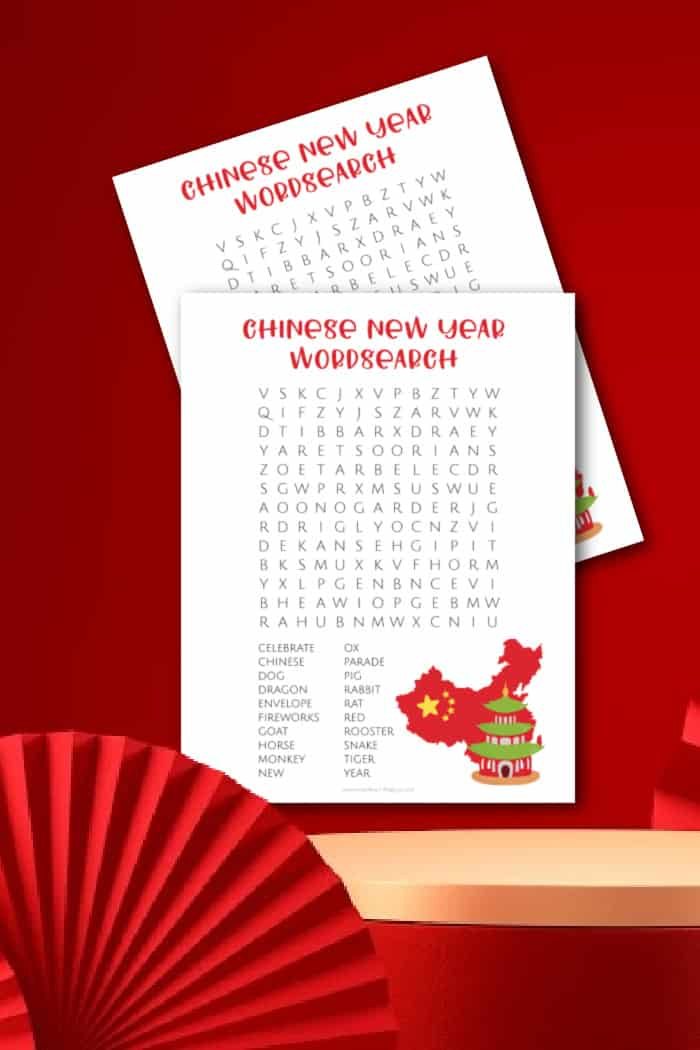 printable chinese new year word search