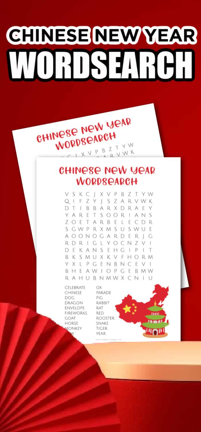 happy chinese new year word search