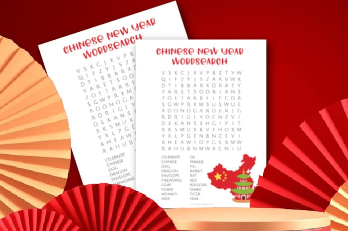 chinese new year word search