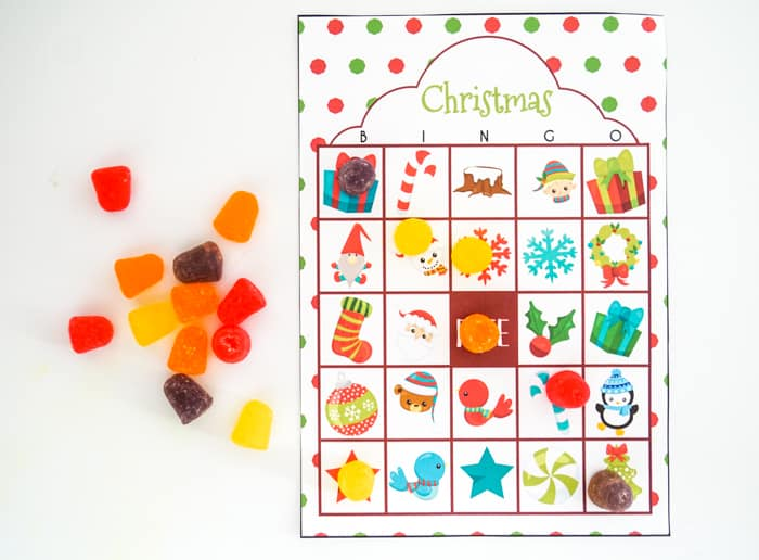 Christmas Bingo for kids
