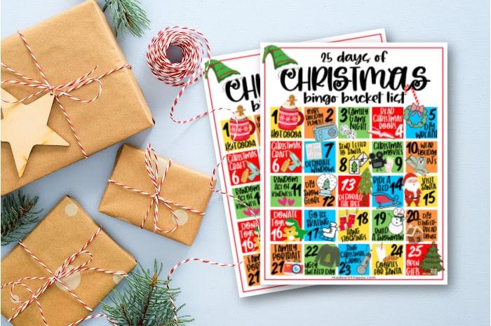 Christmas Bucket List Free Printable
