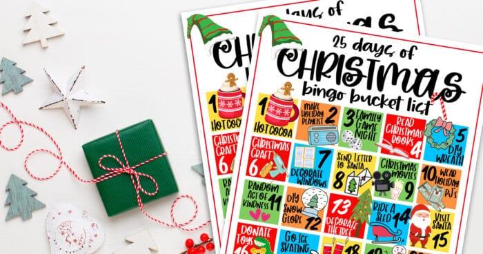 Printable Bucket List For Christmas