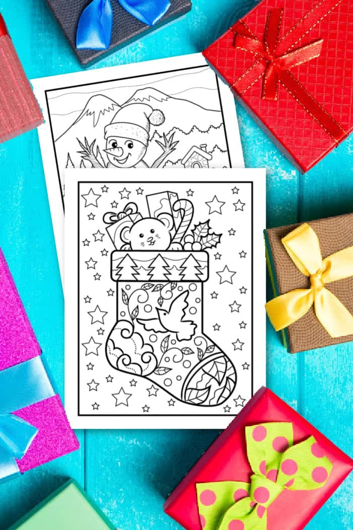 Christmas Coloring Pages For Preschoolers - Made With HAPPY