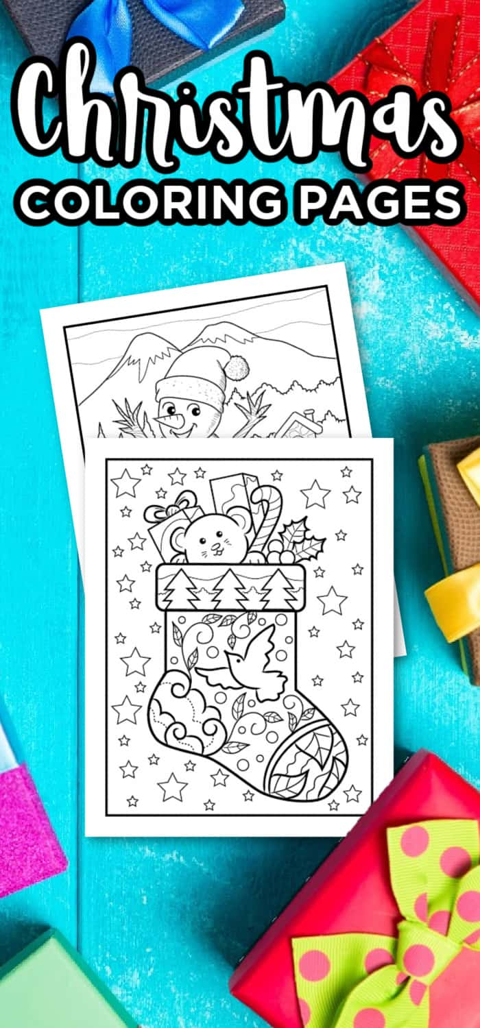 Christmas Coloring Pages For Preschools