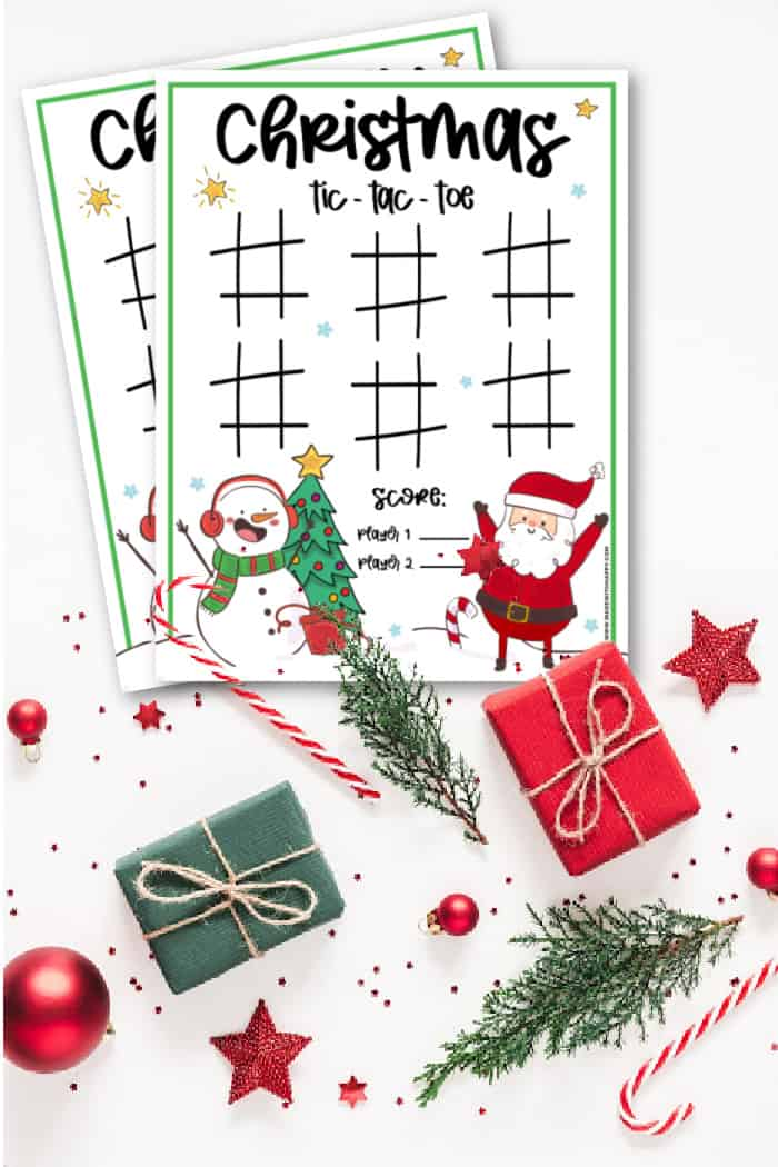 Tic-Tac-Toe Christmas Printable
