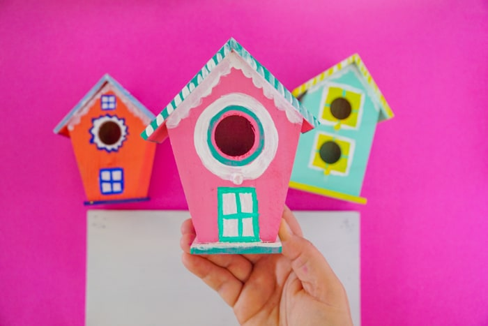 Pink Painted Birdhouse