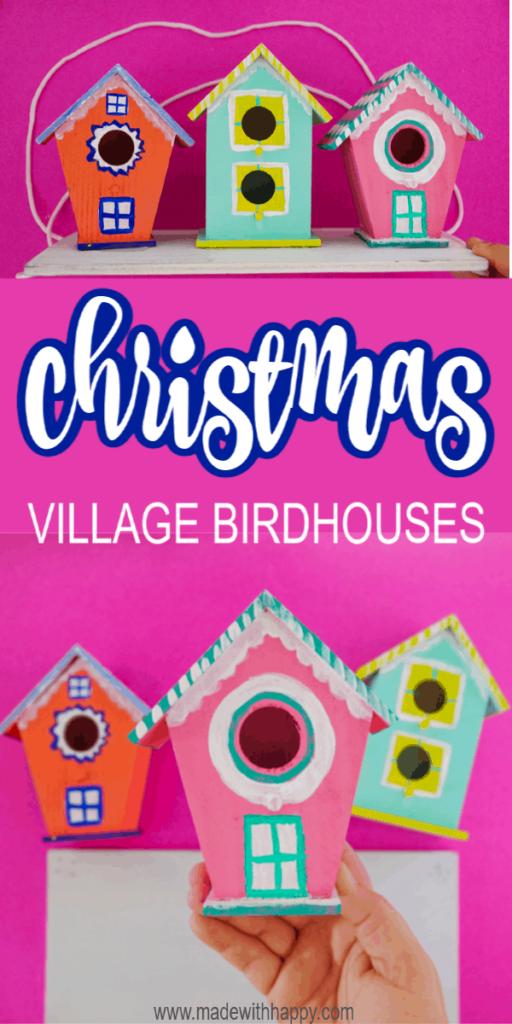 Bright Colored Birdhouses