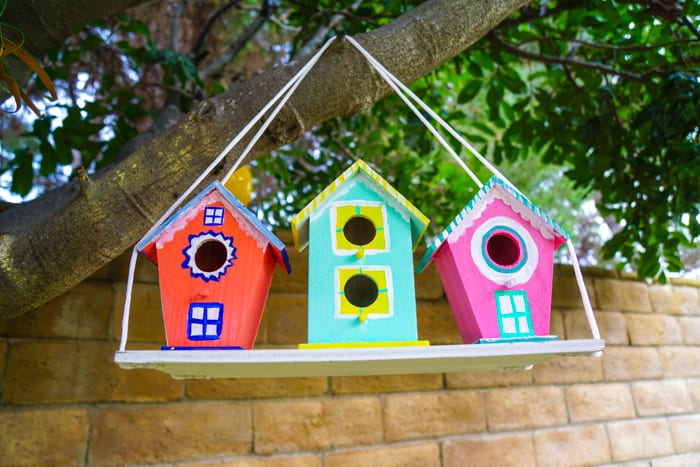 Kid Birdhouse Decorations