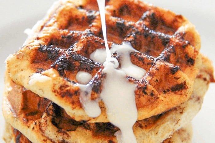 Cinnamon Roll Waffle Feature