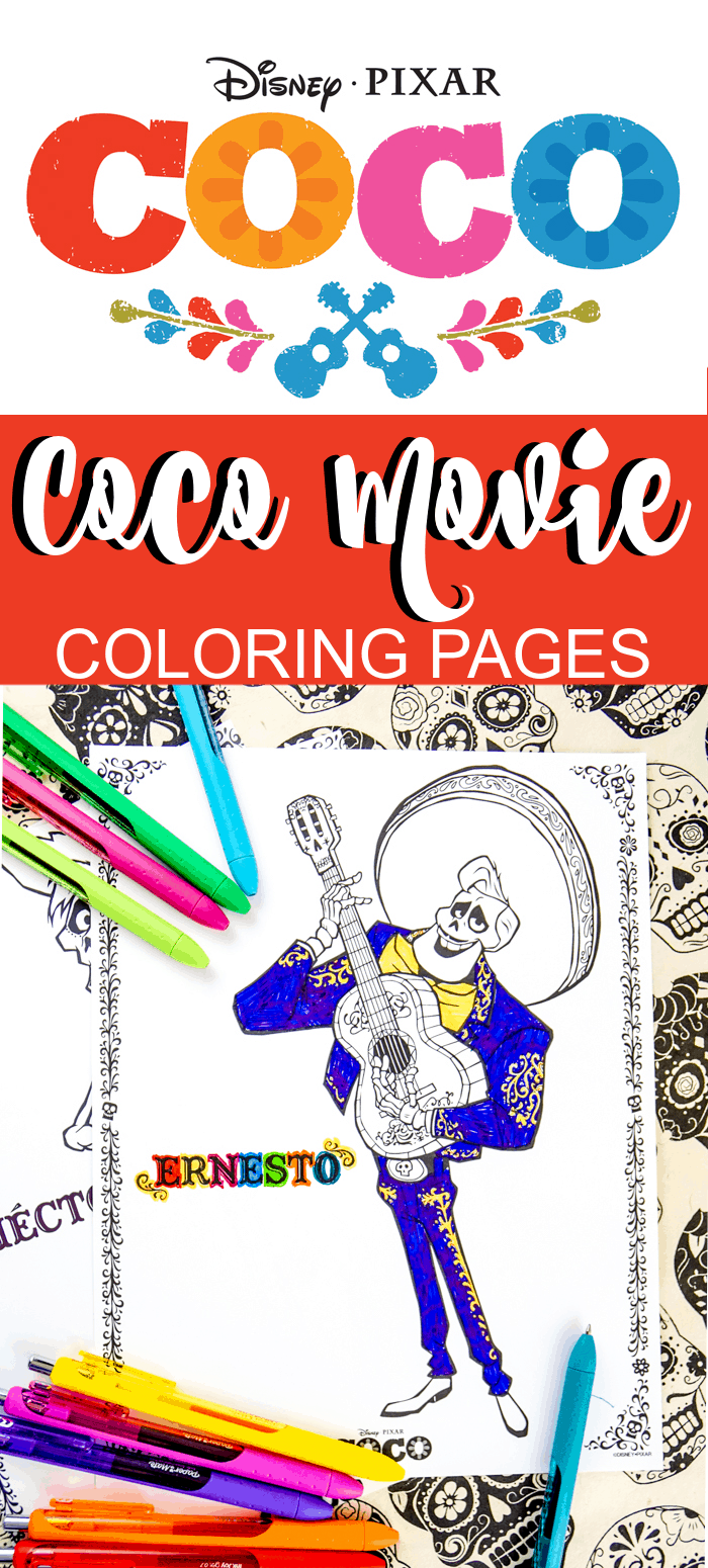 Disney Coco Movie Worksheets