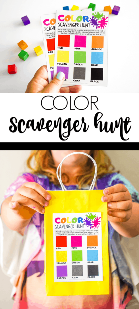 Rainbow Color Scavenger Hunt for Kids