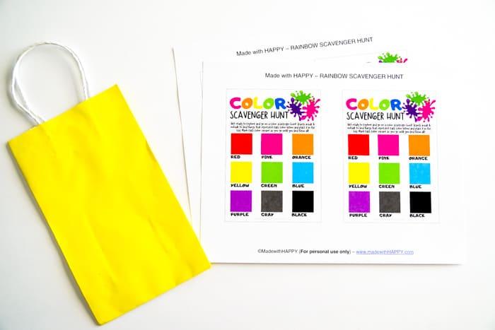 Colorful Scavenger Hunt Ideas for Kids
