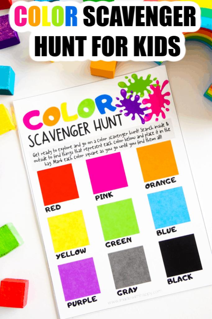 Color Scavenger Hunt For Kids