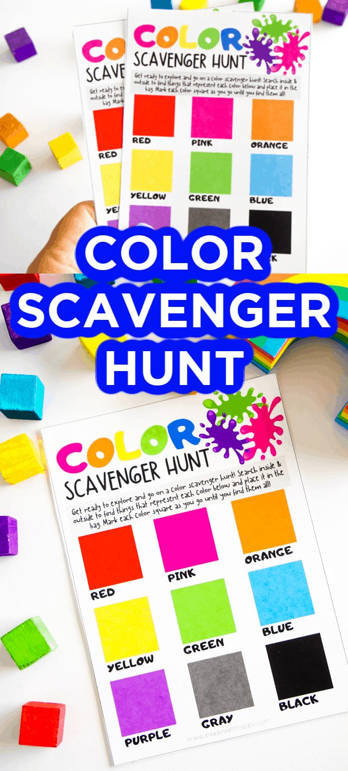 Kids Color Scavenger Hunt