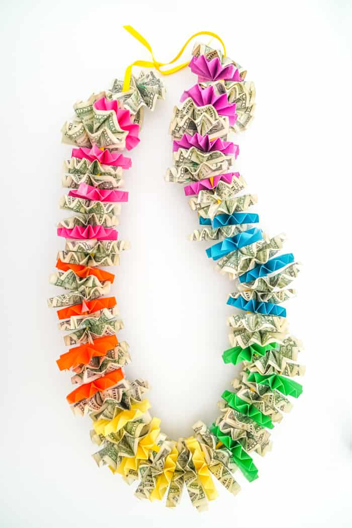 Colorful Money Lei