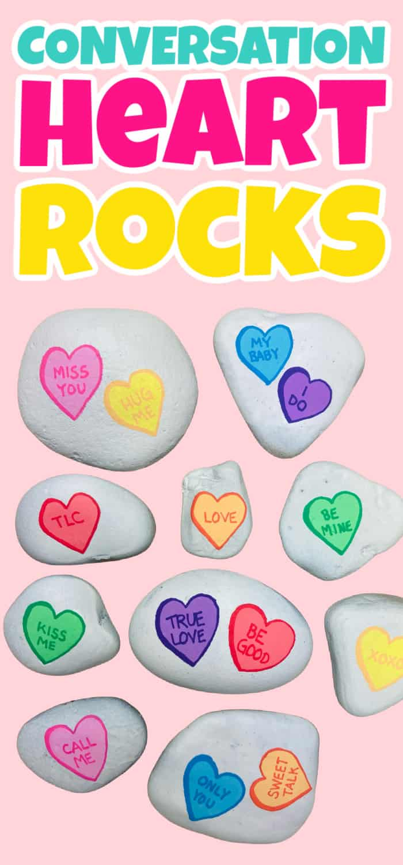 Converation Heart Rocks