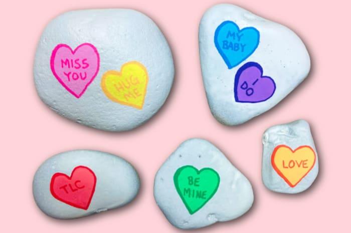 Valentines Rock Paintings