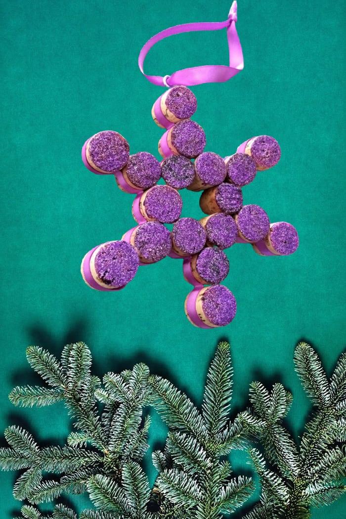 Purple Snowflake Ornament